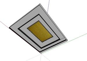 矩形迭级吊顶设计SU(草图大师)模型