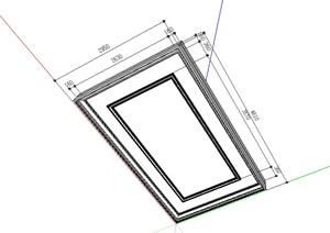 矩形回字吊顶素材SU(草图大师)模型