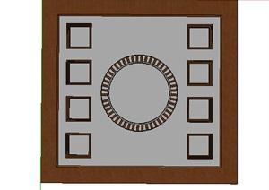 现代方形组合吊顶设计SU(草图大师)模型