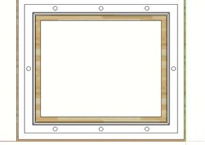某矩形回字吊顶SU(草图大师)模型
