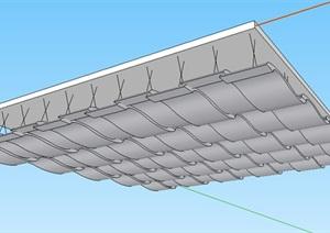 波浪形吊顶设计SU(草图大师)模型