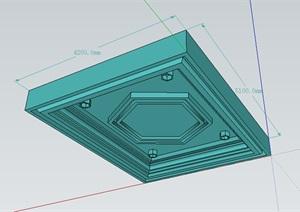 室内天花吊顶设计SU(草图大师)模型