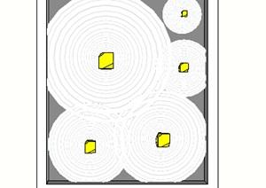 天花顶面设计SU(草图大师)模型