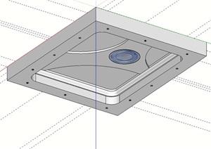 某室内顶面吊顶设计SU(草图大师)模型