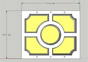 某室内吊顶装饰素材设计SU(草图大师)模型