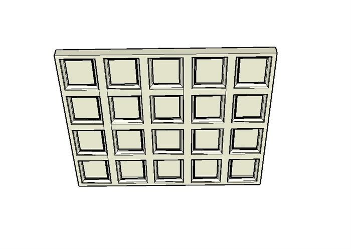 某室内吊顶素材设计su模型(3)