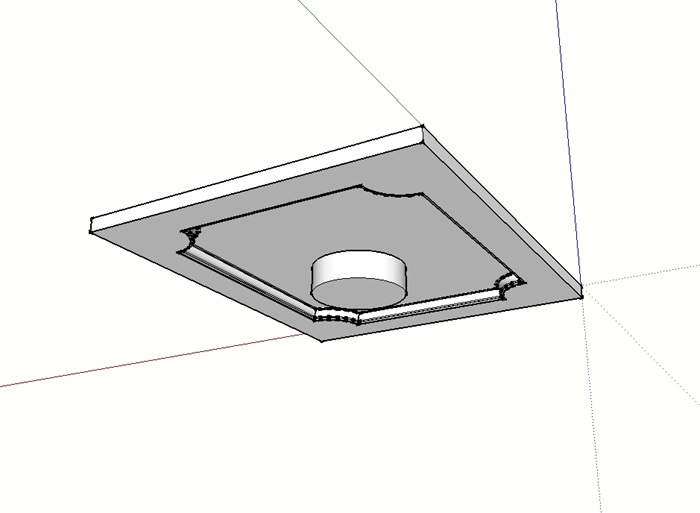 某室内顶棚吊顶设计su模型(3)