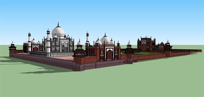 伊斯兰清真寺庙建筑su模型