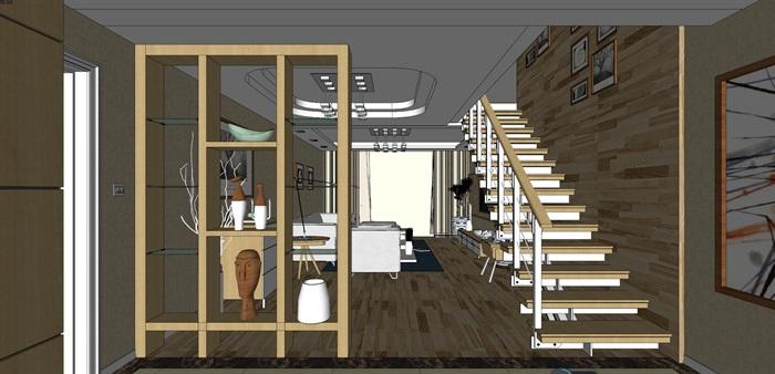 客厅室内超精细模型SU(1)