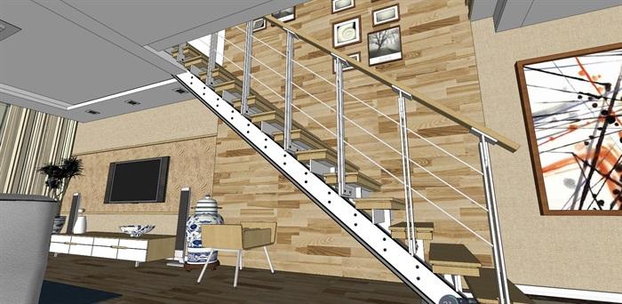 客厅室内超精细模型SU(2)