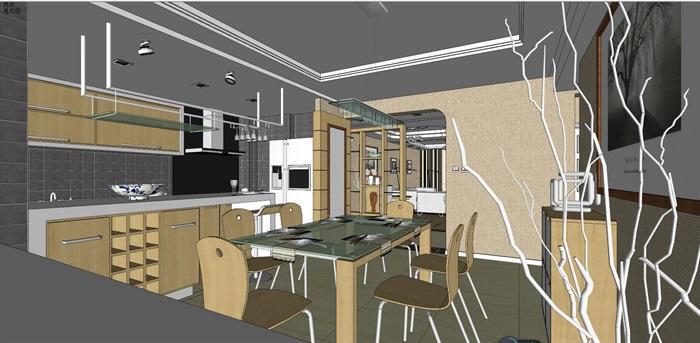 客厅室内超精细模型SU(6)
