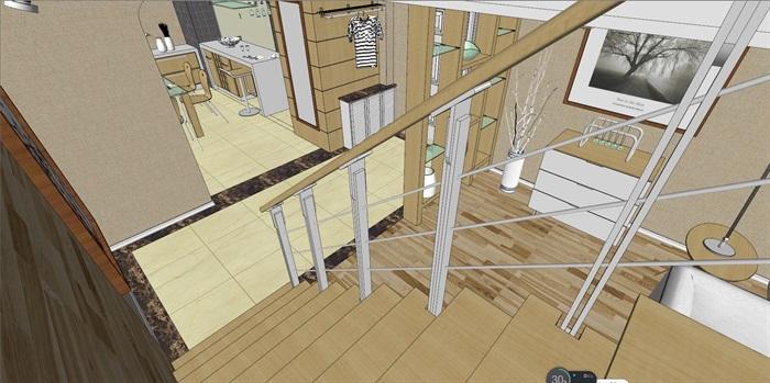 客厅室内超精细模型SU(7)
