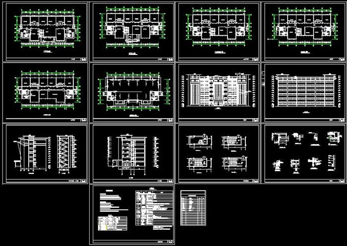 某公司六层框架结构办公楼建筑设计