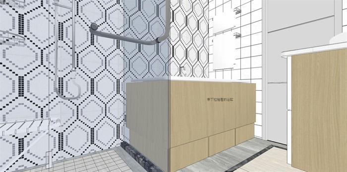 现代风格卫生间设计su模型(两套)
