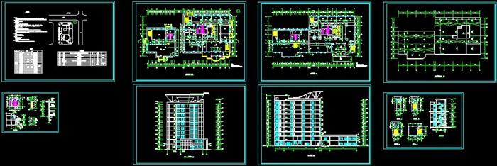 十层框架结构综合办公楼建筑设计施工图