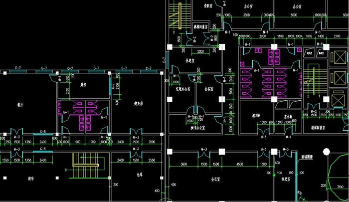 十层框架结构综合办公楼建筑设计-10500平_t3(4)