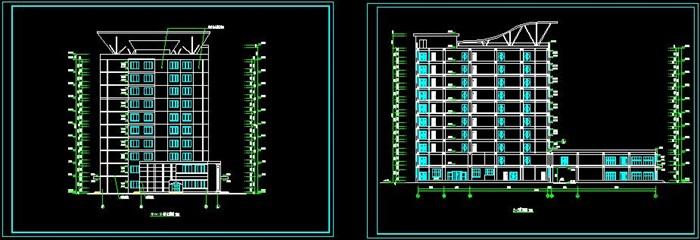 十层框架结构综合办公楼建筑设计-10500平_t3(5)