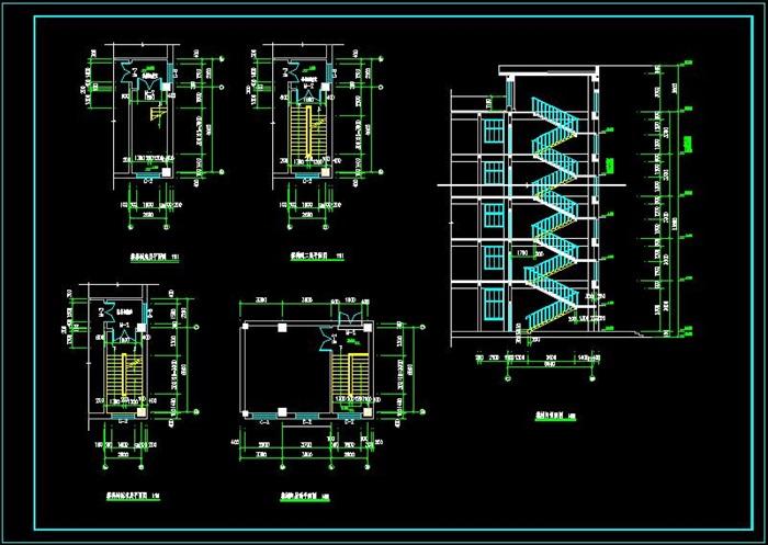 十层框架结构综合办公楼建筑设计-10500平_t3(6)