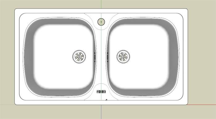 洗菜池洗手池su模型