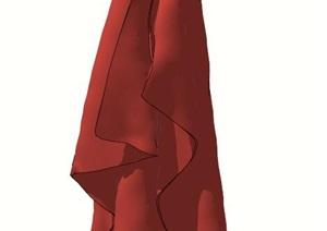 毛巾SU(草图大师)模型