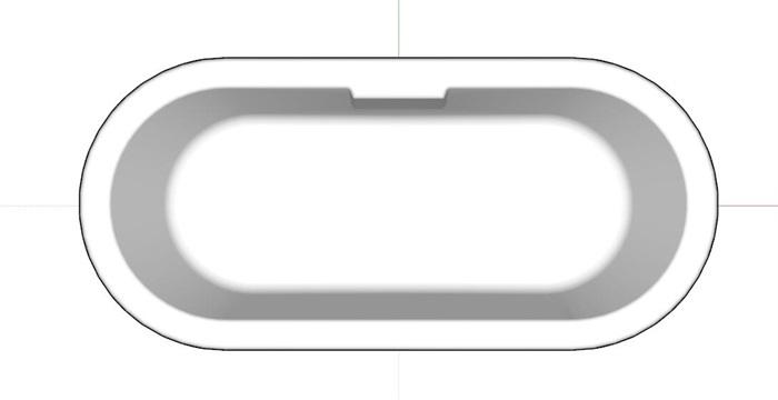 浴缸素材su细致模型