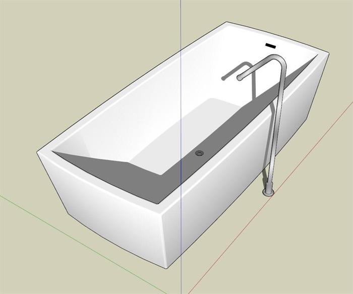 矩形浴缸su模型