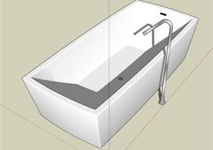 矩形浴缸SU(草图大师)模型