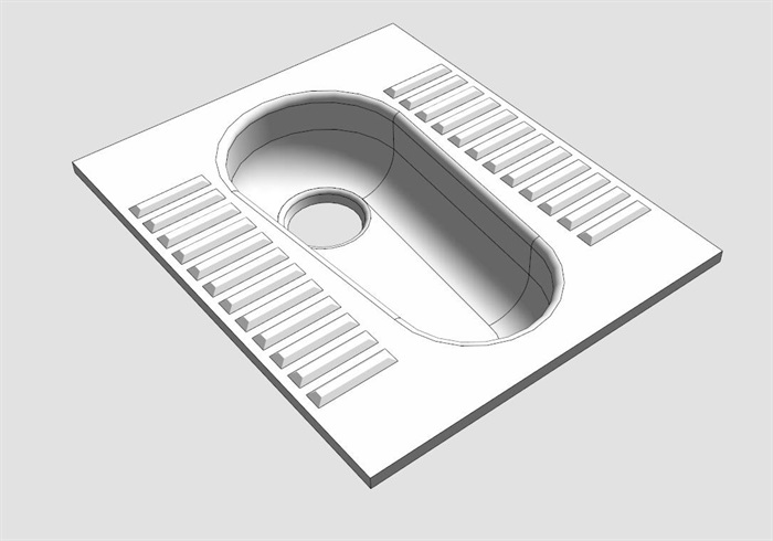 厕所蹲坑su模型