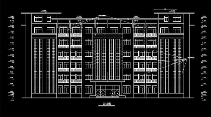 某公司六层框架结构办公楼建筑设计[原创]