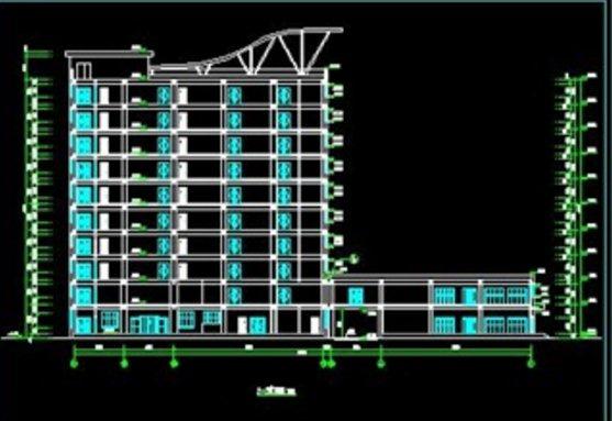 十层框架结构综合办公楼建筑设计施工图(10)