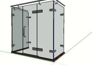 玻璃浴室空间SU(草图大师)模型