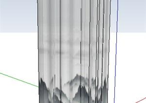 某现代浴室空间素材SU(草图大师)模型