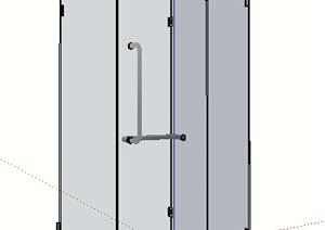 某玻璃浴室空间SU(草图大师)模型