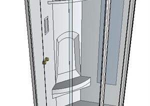 洗浴浴室空间SU(草图大师)模型