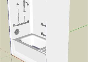某浴室空间SU(草图大师)模型