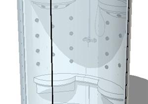 某室内玻璃浴室设计SU(草图大师)模型