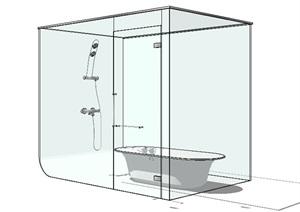 玻璃浴室设计SU(草图大师)模型