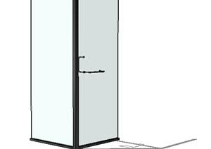 某浴室玻璃素材SU(草图大师)模型