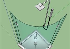 某室内浴室设计SU(草图大师)模型