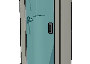 某现代室内浴室空间SU(草图大师)模型