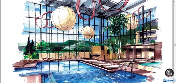室内泳池,水池