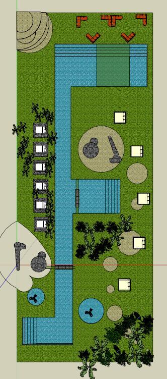 溫泉公園景觀設計su模型[原創]
