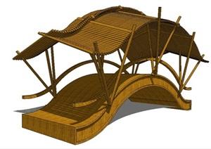 古典传统中式廊桥SU(草图大师)模型