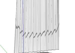 浴室窗帘设计SU(草图大师)模型