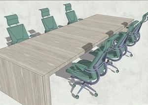 会议室办公桌椅SU(草图大师)模型