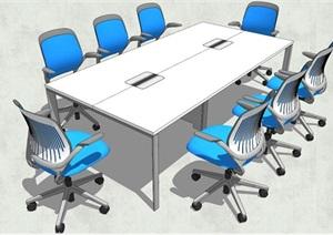 精品会议室桌椅SU(草图大师)模型