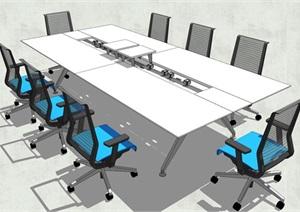 精品会议室会议桌SU(草图大师)模型