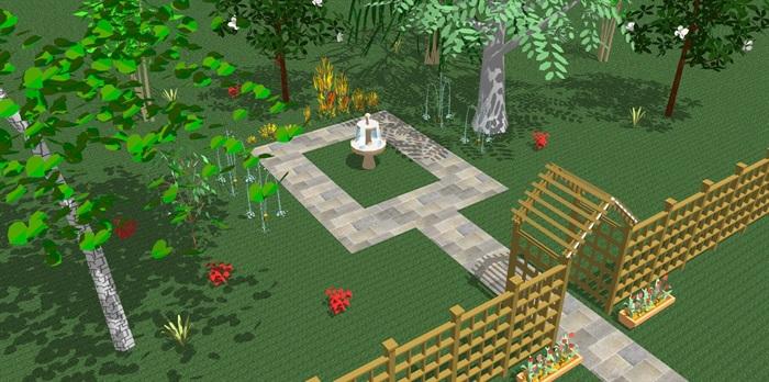 某园林景观节点素材组合su模型[原创]