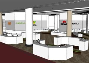 现代风格数码商场室内设计SU(草图大师)模型