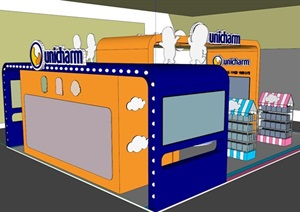 现代风格母婴用品展厅设计SU(草图大师)模型